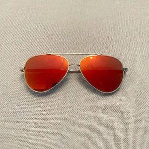 American Eagle Aviator Flash & Flat Lens Sunglasses